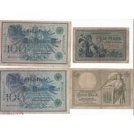 LOT DE 20 REICHSBANKNOTE DIVERS 1904 à 1915 - Duitsland