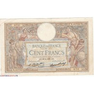 100 Francs LUC OLIVIER MERSON 20-08-1931 Fayette 24.10 - 1871-1952 Gedurende De XXste In Omloop