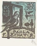 Ex Libris Paola F. Benatti - Remo Wolf (1912-2009) - Exlibris