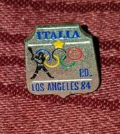 OLYMPIC GAMES LOS ANGELES 1984. RARE VINTAGE PIN BADGE ITALY BASEBALL - Olympic Games