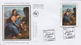 Enveloppe  FDC  1er   Jour    FRANCE   Oeuvre  De  LEONARD  DE  VINCI   2019 - 2010-....