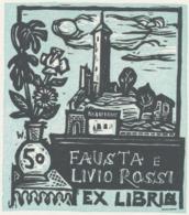 Ex Libris Fausta E Livio Rossi - Remo Wolf (1912-2009) - Exlibris
