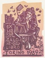 Ex Libris Salone Del Libro Torino 1989 - Remo Wolf (1912-2009) - Exlibris
