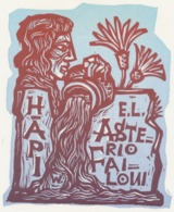 Ex Libris Asterio Failoni - Remo Wolf (1912-2009) - Exlibris