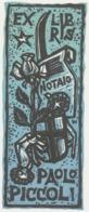 Ex Libris Paolo Piccoli - Remo Wolf (1912-2009) - Exlibris