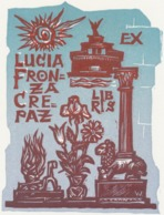 Ex Libris Lucia Fronza Crepaz - Remo Wolf (1912-2009) - Exlibris