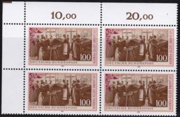 """BRD, 1991 Nr. 1521 **,  Viererblock Mit Eckrand Oben Links, """"Lette-Verein, Berlin"""" - Nuovi"""