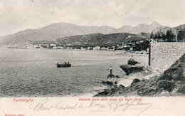 VENTIMIGLIA-MENTONE PRESO DALLE ROCCIE DEI BALZI-ROSSI-1905 - Imperia