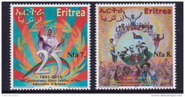 ERITREA,2016, LIBERATION, SILVER JUBILEE OF LIBERATION OF ERITREA,WHEAT, MNH - Flags