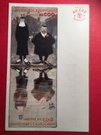 """Chaussures Caoutchouc Marque  """" Au Coq """" Téléphone Illustrateur Illustrateur Gus Bofa - Werbepostkarten"""