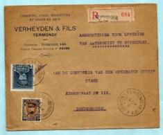 N°320+341 Op Aanget. Zending, Afst. DENDERMONDE / TERMONDE 05/09/1932 - 1931-1934 Mütze (Képi)