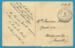 Kaart (KOLN) Met Stempel POSTES MILITAIRES BELGIQUE 1A - Postmark Collection