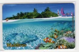MALDIVES 50U Silver Jubilee Carte Non Rèfèrencée - Maldive