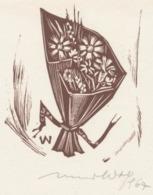 Dankkaart 1968 Remo Wolf (1912-2009) Gesigneerd - Stiche & Gravuren