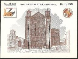 1992-ED.3222.H.B.-EXFILNA'92-IGLESIA  DE S. PABLO.VALLADOLID-NUEVO - Blocs & Hojas