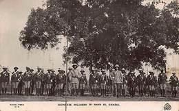 Sudanese Soldiers In Bahr El Ghazal Sudan Africa Postcard - Cartes Postales