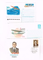 Russia USSR 1985 Gliding Stationery Cover 1986 Chkalov Flight Postcard 1984 Ilyushin FDC Airplane Aviation - Covers & Documents