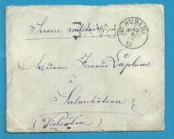 """Brief """"Service Militaire"""" Met Stempel ST-HUBERT (19 Links) Met Stempel PAYE Als Noodstempel Gebruikt - Postmark Collection"""