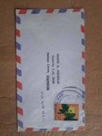 Enveloppe Haïti Distribuée Avec Timbre De Fleurs - Vegetales