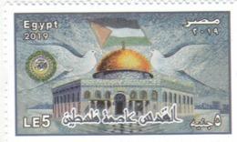 Stamps EGYPT 2019 Al Quds Capital Of Palestine Flag MNH */ - Egypte