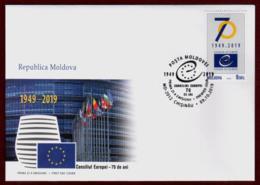 "Moldova 2019 FDC ""70th Anniversary Of The Council Of Europe"" Quality:100% - Moldavië"