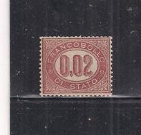 REGNO D'ITALIA   1875   SERVIZIO   RE V.EMANUELE  II   SASS.1 MLH VF - Dienstpost