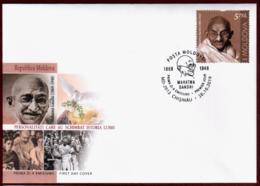 "Moldova 2019  FDC ""Mahatma Gandhi (1869-1948).Personalities Who Changed World History."" Quality:100% - Moldova"