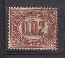 REGNO D'ITALIA   1875   SERVIZIO   RE V.EMANUELE  II   SASS.2 USATO VF - Dienstpost