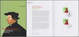 """Bund Schweiz: Ministerkarte, Mi-Nr. 3464: """" Reformation - Huldrych Zwingli """"  Gemeinschaftsausgabe Joint Issue ! - Storia Postale"""