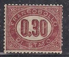 REGNO D'ITALIA   1875   SERVIZIO   RE V.EMANUELE  II   SASS.4  MLH VF - Dienstpost