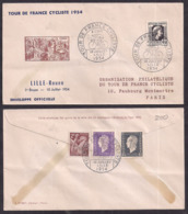 France - 1954 - Cachets Spéciaux - Tour De France Cycliste 1954 - Radsport