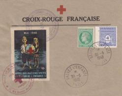 ♦FRANCE:BELLE LETTRE CROIX ROUGE APPEL DES NATIONS UNIES EN FAVEUR DE L'ENFANCE - 30 MAI 1948 - Marcophilie (Lettres)