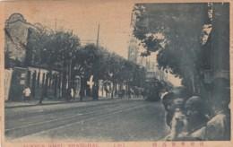 Shanghai China, Joffu Avenue Street Scene, American Writing Home C1910s Vintage Postcard - China