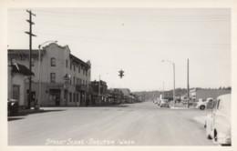 Shelton Washington, Railraod Avenue Street Scene, C1940s Vintage Ellis #7205 Real Photo Postcard - Stati Uniti