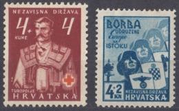 CROAZIA - 1941 - Lotto Di 2 Valori Nuovi Assortiti, Nuovi MH: Yvert 48 E 49. - Croacia