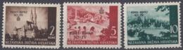 CROAZIA - 1942 - Serie Completa Nuova MNH Formata Da 3 Valori: Yvert 54/56. - Croacia