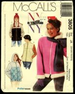 Vintage McCall`s Schnittmuster 3805  -  Junge-Damen-Jacke Weste Mit Kaputze  -  Size JA  -  Größe 4-10 - Designermode