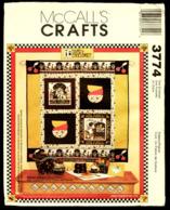 Vintage McCall`s Schnittmuster 3774 Crafts  -  Steppdecke, Tasche, Kissen, Bilderrahmen - Stickarbeiten
