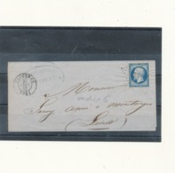 N°14 SUR LETTRE. - 1853-1860 Napoléon III