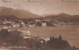 Switzerland Lugano Vue Generale, Panorama 1900s AK - Suiza
