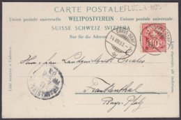 GR    FLÜELA HOSPIZ  ( STABSTEMPEL ) - DAVOS - DEUTSCHLAND  /  SCHOENE AK - 1882-1906 Wappen, Stehende Helvetia & UPU