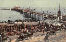 England Brighton, Palace Pier & Aquarium, Carriages, Trams, Ship Boats - Inglaterra