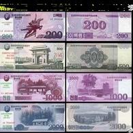 2018 North Korea Banknotes 70th Anniversary Of The Founding Of North Korea  4V - Corea Del Nord