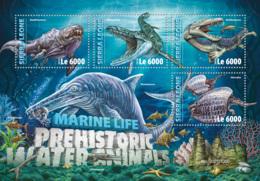 Sierra  Leone 2016 Prehistoric Water Animals - Sierra Leone (1961-...)