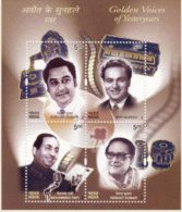 5X INDIA 2003 Golden Voices; Miniature Sheet, MINT - India