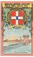 VALENCE - Chromo Pub ROYAL MOKA - Bourgeois & Labre, Cambrai Proville (Nord) Armes Des Villes De France - Tea & Coffee Manufacturers