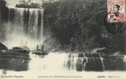 Les Chutes Du Sé Noi (Province De Saravane) LAOS + Beau Timbre 10Indochine - Laos