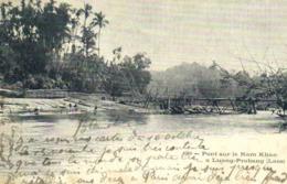 Pont Sur Le Nam Khan à Luang Prabang ( Laos) RV Beau Timbre 10 Surchargé Indochine - Laos