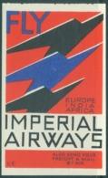 Imperial Airways Label Europe, India, Africa UNUSED - Profiles