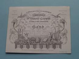 Libraire Editeur BICORF - CROWIE GAND > Lith. Daveluy Bruges ( Porcelein / Porcelaine ) Formaat +/- 9,5 X 12,5 Cm - Cartes De Visite